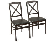 X Espresso Chair Set of 2