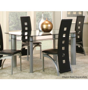 valencia glass dining table art van furniture