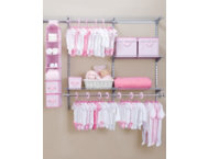 48 Piece Nursery Storage -Pink