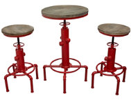 Brooklyn Red Bistro 3PC Set