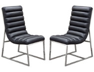 Bardot Black Chair Set of 2