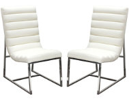 Bardot White Chair Set of 2