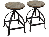 Davis Grey Stools Set of 2