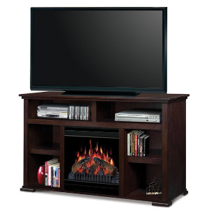 Lucas Mocha Media Fireplace