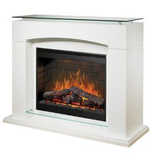 Laguna Gloss White Fireplace Art Van Furniture