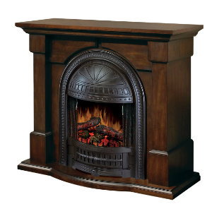 Brockton Walnut Fireplace