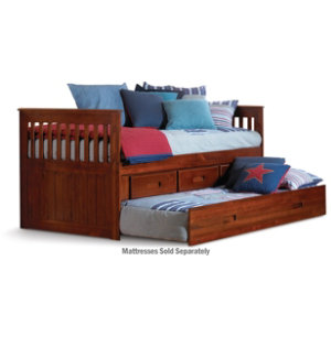 Twin Rake Bed With Trundle