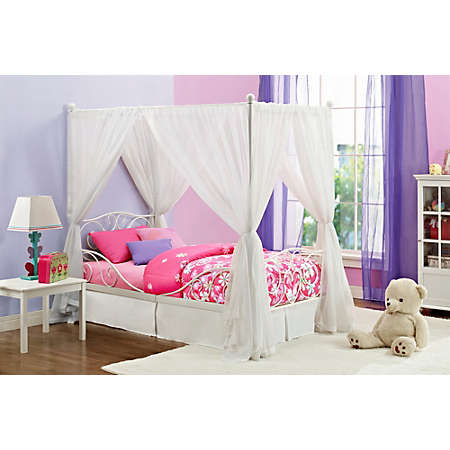 shop Kids Canopy Bed Collection Main  sc 1 st  Art Van Furniture & Kids Canopy Bed Collection | Metal Beds | Bedrooms | Art Van ...