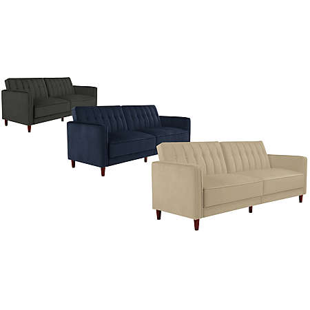 shop pin tufted futon collection main pin tufted futon collection   daybeds   bedrooms   art van      rh   artvan