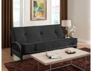 Aiden Black Sofa Futon Set