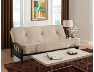 Aiden Tan Sofa Futon Set
