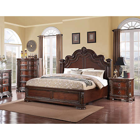 Riviera Cherry Collection | Master Bedroom | Bedrooms | Art Van ...