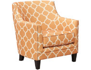 dinah orange accent chair