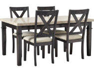 Fillmore 5PC Dining Set- Wood