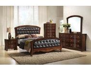 Jenny 6pc queen bedroom set art van furniture for Art van furniture bedroom sets