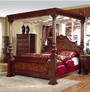 Olivia Queen Canopy Bed