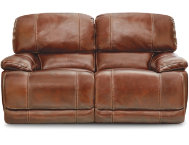 Power Reclining Leather Love