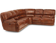 3 Piece Leather Recl Sectional
