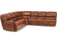 4PC Leather Recl Sectional