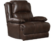 AV Dual Power Leather Recliner