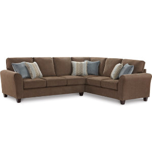 Mirage iii 2 piece sectional art van furniture for Sectional sofa art van