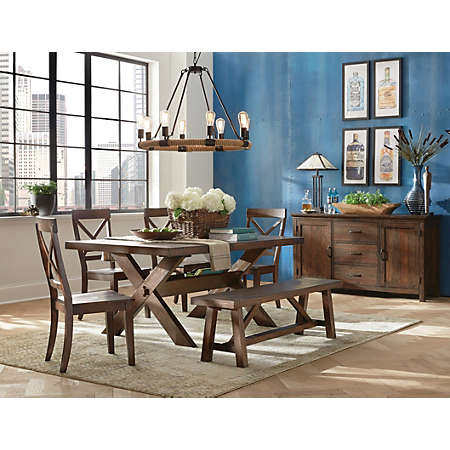 claremont trestle dining | casual dining | dining rooms | art van