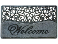 Rubber Welcome 18x30 Doormat