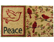 Peace Dove 18x30 Doormat