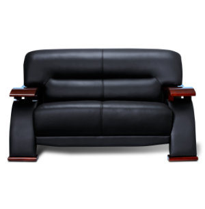 Wave Loveseat Black