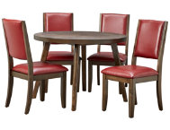 Cafe Table  4 Ruby Chairs