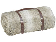 shop Acoma Grey Brown Fur Throw