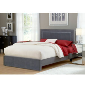 Amber King Upholstered Bed