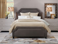 Carlyle King Upholstered Bed