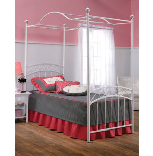 Emily Twin Canopy Metal Bed