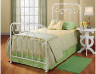 Lindsey Queen Metal Bed