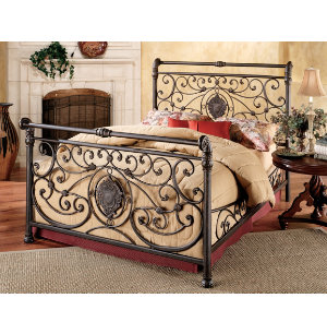 Mercer King Metal Bed