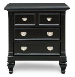 Breeze Black 3Dr Nightstand