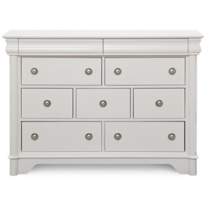 7 Drawer Dresser - White