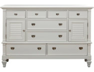Breeze White 8Dr-2Door Dresser