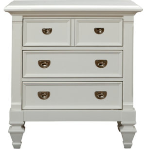 Breeze White 3Dr Nightstand