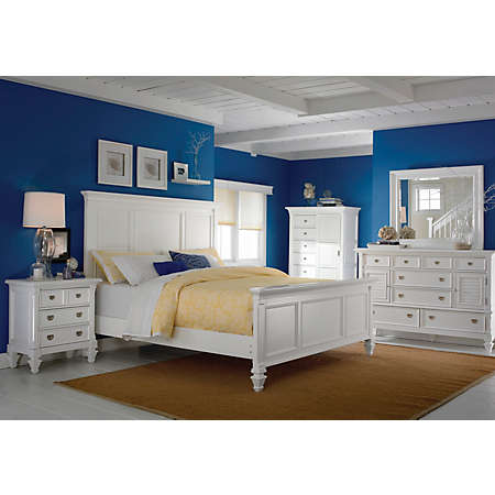 Summer Breeze White Collection | Master Bedroom | | Art Van ...