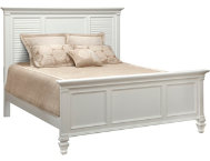 Breeze White King Panel Bed