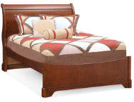 Full Sleigh Bed - Cherry