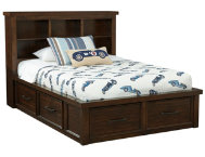 Sonoma Full Book Bed w Storage