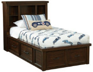 Sonoma Twin Book Bed w Storage