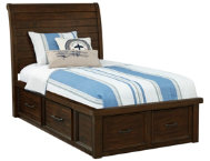Sonoma Twin Sleigh Bed w Stor.