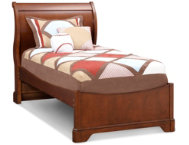 Twin Sleigh Bed - Cherry