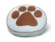 Powder Blue Round Pet Bed