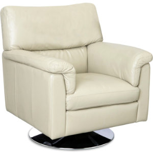 Lucio Leather Swivel Chair