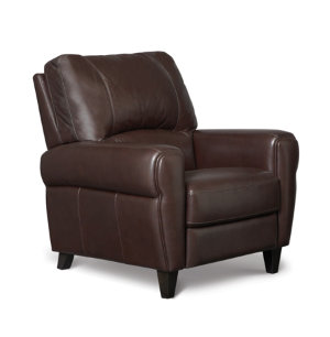 Leather Press Back Recliner